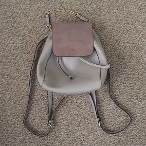 ZARA chain link backpack with leather flap